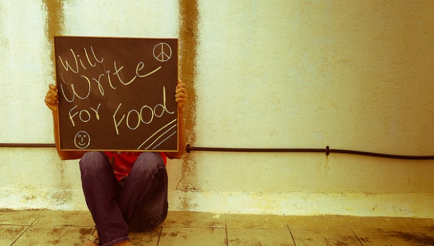 will write for food, crowdfunding for writers
