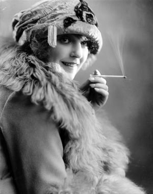 Woman smoking a cigarette My Sweet Delirium