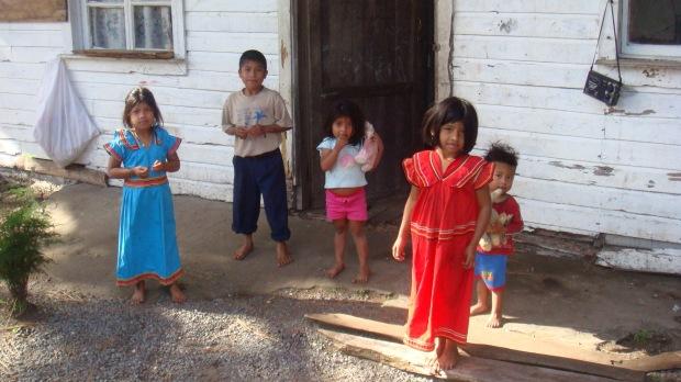 Indigenous children of El Salto Boquete Panama