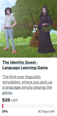 The Identity Quest Indiegogo