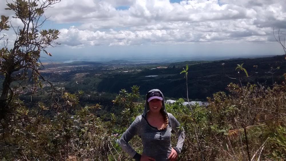 Christa Wojo hikes Piedra de Lino