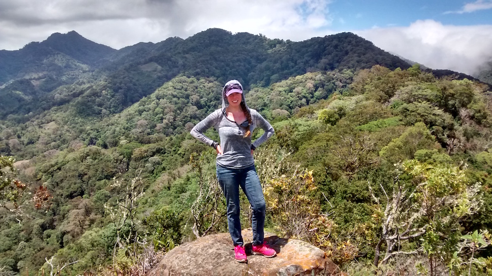 Christa Wojo hikes Piedra de Lino Boquete Panama