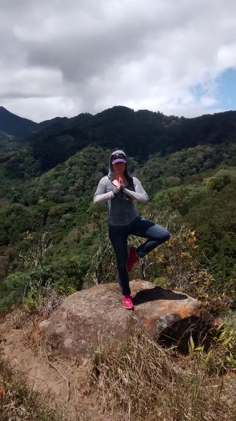 Tree pose on top of Piedra de Lino