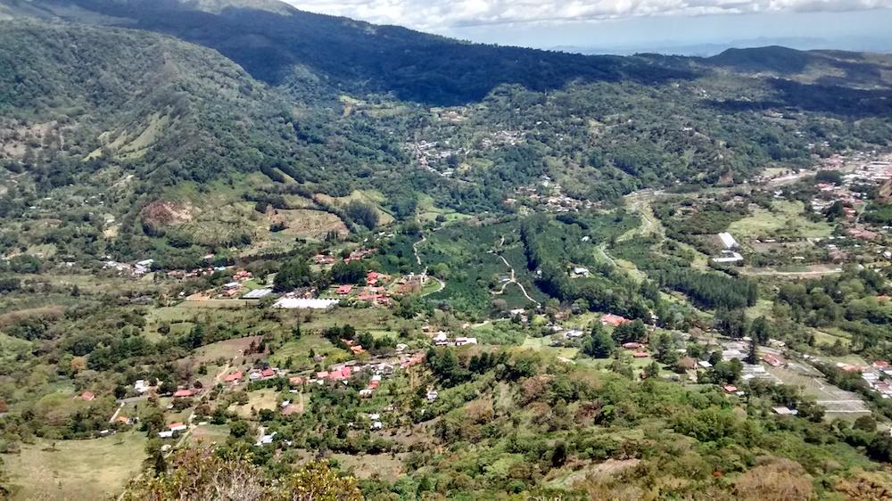 view of Jaramillo from Piedra de Lino